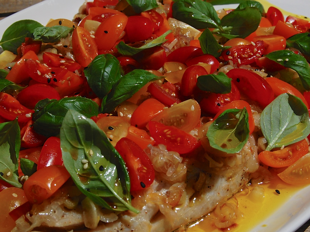 Steamed basa fish with Balinese salsa