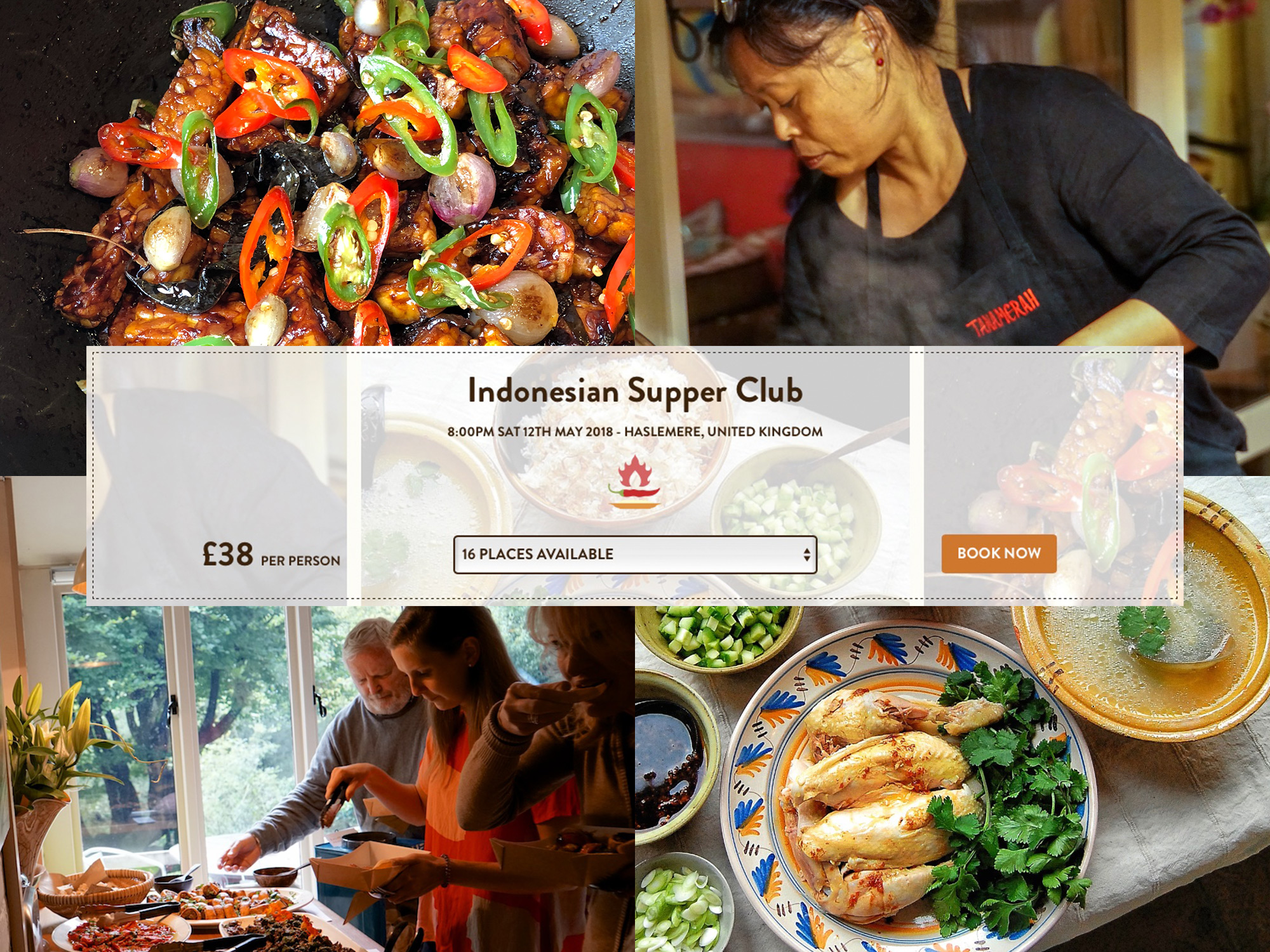 Indonesian Supper Club at Anvil Cottage