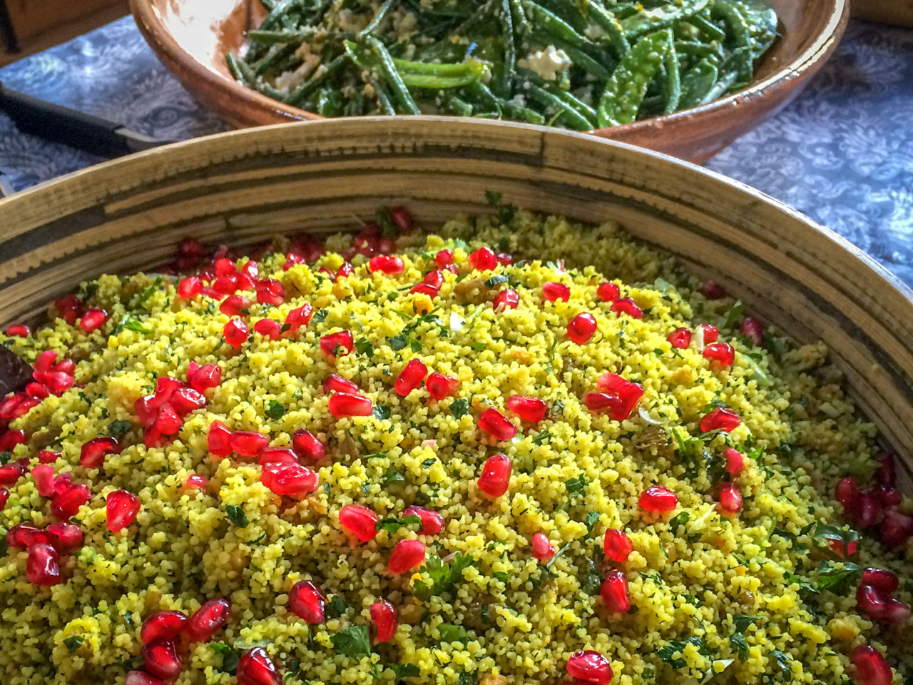 Couscous with pomegranate seeds & parsley